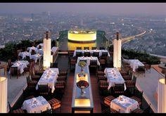Imagine having a cocktail here after a hard day. Sky Bar at The Dome at Lebua, Bangkok.