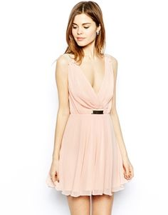 Elise Ryan Skater Dress with Wrap Front