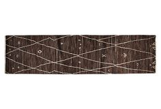 "One Kings Lane - Uncommon Ground - 2'6""x9'10"" Reed Runner, Brown"