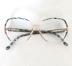 cf10f9adb145 Titmus Optical Crystal Clear Eyeglass Sunglasses Frame Vintage 80s Big Mod  54mm Lens 14mm Bridge 5.25