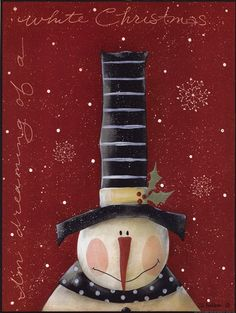White Christmas ~ Fine-Art Print - Christmas Snowmen Art Prints and Posters - Christmas Pictures Christmas Canvas, Christmas Paintings, Christmas Wrapping, Christmas Snowman, Winter Christmas, Christmas Crafts, Christmas Ornaments, Holiday Canvas, Snowmen Paintings