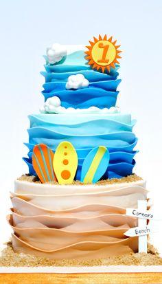 Surf's Up Birthday Cake