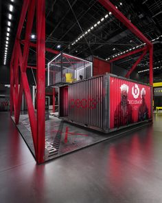 Booth design concept inspired by Decade Collection of Beats by Dre and their wireless Beats X series Exhibition Stand Design, Exhibition Display, Exhibition Stall, Container Design, Gym Design, Studio Design, Bike Design, Warehouse Design, Container Architecture