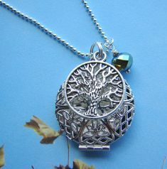 Silver+Tree+of+Life+Essential+Oil+Diffuser+by+ExpressioneryPendant
