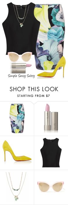 """""""Dash of Lime"""" by simplesassysultry on Polyvore featuring Bardot, Christian Louboutin, White House Black Market, Lonna & Lilly and Cutler and Gross"""
