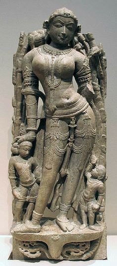 Celestial Beauty (Surasundari).  Date:     11th century Culture:     India (southern Rajasthan) Medium:     Marble