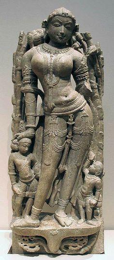 Celestial Beauty (Surasundari), 11th century, India (southern Rajasthan), Marble