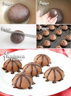 Volcano Cookies Recipe, How To Biscotti Cookies, Galletas Cookies, Yummy Cookies, Volcano Cookies Recipe, Cookie Recipes, Dessert Recipes, Desserts, Cute Food, Yummy Food