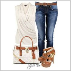 CHATA'S DAILY TIP: If you are looking for a perfect casual-smart outfit then this is it! The combination of wearing a smart top with casual jeans and stylish accessories is always a must-do o…
