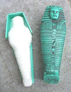RARE Vintage 1960's Hasbro GI JOE Secret of the Mummy's Tomb COFFIN Sarcophagus