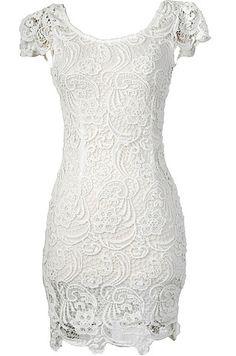 e0ea45aeca6 Now  amp  Forever Lace Dress - White Chic Dress