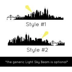 City Skyline Silhouette Gotham Metropolis etc Wall by danadecals
