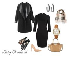 """""""Lady Cleveland"""" by yuvette on Polyvore featuring Mason by Michelle Mason, Gianvito Rossi, Columbia, Burberry, Valentino, Michael Kors and House of Harlow 1960"""