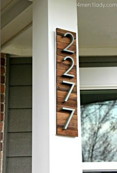 DIY House Numbers..great idea