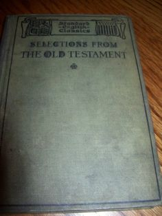 Selections from The Old Testament English Classic 1911 | eBay $4.79 BIN
