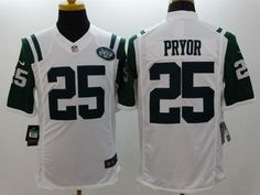 "$23.88 at ""MaryJersey"" (maryjerseyelway@gmail.com) #25 Calvin Pryor - Nike Jets White Men's Stitched NFL Limited Jersey"