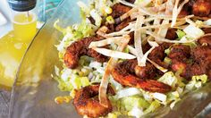 Blackened Shrimp Salad with Jicama and Grilled Corn | These aren't only our best shrimp recipes; they are our all-time favorites--the ones we never grow tired of grilling, steaming, frying, and of course, eating! Plus, find cooking tips, fun facts, and everything you never knew about the popular seafood.
