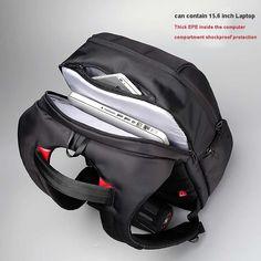 Kingsons Brand Antitheft Notebook Backpack 15.6 inch Waterproof Laptop Backpack for Men Women External USB Charge Computer Bag