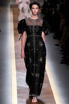 Black tulle evening dress