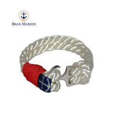 Bran Marion Sailors White and Red Nautical Bracelet Nautical Bracelet, Nautical Jewelry, Marine Rope, Azul Real, Everyday Look, Handmade Bracelets, Jewelry Collection, Royal Blue, Sailors