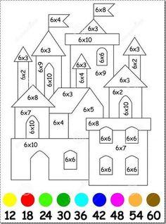 Math Coloring Worksheets, Kids Math Worksheets, Math Games, Math Activities, Math School, Math Multiplication, Third Grade Math, Homeschool Math, Math For Kids