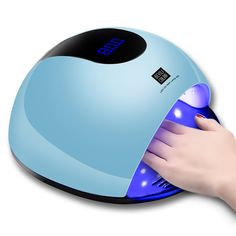 UV Nail Lamp, LED UV Light for Gel Nails, Faster Nail Drier with 36 UV Lamp Beads and Infrared Auto Sensor, Suitable for Gel Nail Polish, Big Space for Fingernail & Toenail Polish Art (Blue) Uv Nails, Gel Nail Polish, Manicure And Pedicure, Cnd Shellac, Smartwatch, Apple Technology, Led Technology, Fast Nail, Smart Nails