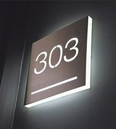 A collection of personalized signs for hotels available in a variety of styles, shapes, dimensions and colours. Bed Back Design, Door Design, House Design, Door Signage, Hotel Hallway, Illuminated Signs, Glass Office, Environmental Graphic Design, Coffee Shop Design