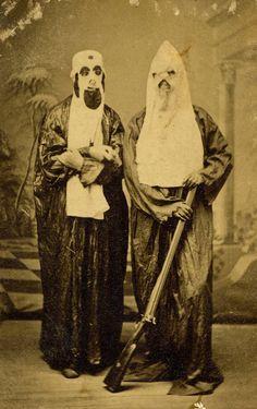 Klu Klux Klan uniform and gear