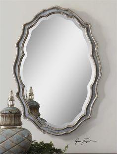 MASTER BATHROOM OPTION 3 28 X 40 X 2 Uttermost Dorgali Slate Blue Mirror