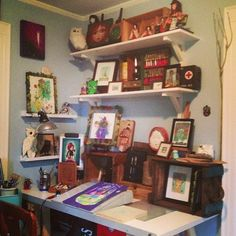 #shelves #shelf #curio #workspace #art #design #studio #fun #mumbot