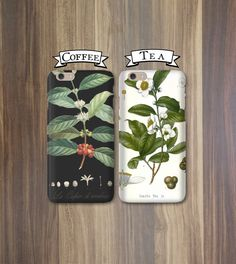 His and Hers Phone Cases - Coffee and Tea, Black and White - Valentines iPhone 6, 5/5S 5C 4S, Galaxy s4 s5 Cases Couples iPhone Cases