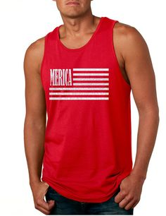 Men's Tank Top Merica Glitter White Flag 4th Of July Top  #tanktop #july4th #merica #glitter #american