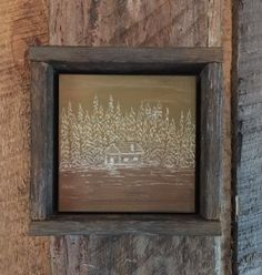 Rustic Wall Art, Engraved Wood, Fall Home Decor, Cabin, Autumn, Landscape…