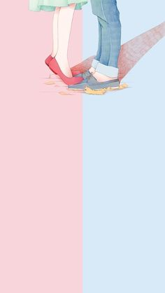The post wallpaper 87 appeared first on Fosforlu Düşünceler! Art Love Couple, Anime Love Couple, Love Art, Kawaii Wallpaper, Trendy Wallpaper, Love Wallpaper, Iphone Wallpaper, Couple Illustration, Illustration Art