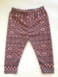 littlefour cotton knit aztec print baby leggings NB 3m 6m 12m 18m on Etsy, $25.00