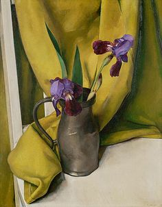 """Irises"" 1928, oil on canvas by American-Italian born painter LUIGI LUCIONI (1900/1988)"
