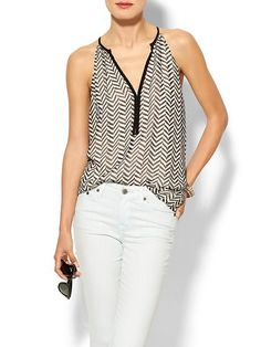 Rhyme Los Angeles Sleeveless Geometric Trapeze Top | Piperlime