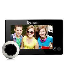 DANMINI 4.3 pollice Digital Peephole Del Visore Del Portello Eye Campanello di Casa Senza Fili Campanello Video Citofono 145 Gradi Telecamera di Sicurezza Nuovo