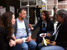 Elda, @Tearfund partner, talking&strategising with her other Brazilian colleagues about governance #OGP2013 http://t.co/qRYur6FZ9D