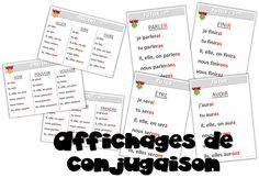 Français - Affichages conjugaison à tous les temps ! - Journal de bord d'une instit' débutante