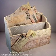 alter a wooden letter holder by leila