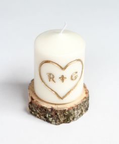 Christmas Gifts for Boyfriend! DIY Carved with Initial Candle | http://diyready.com/24-diy-gifts-for-your-boyfriend-christmas-gifts-for-boyfriend/