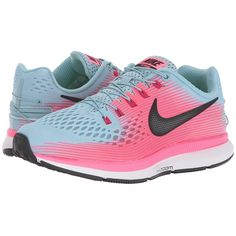 7ca4c834125 SEE IT - Nike Air Zoom Pegasus 34 FlyEase (Mica Blue/Black/Racer Pink/Sport  Fuchsia) Women's Running Shoes Your running routine just got easier with  the ...