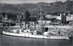 Vintage photographs of battleships, battlecruisers and cruisers.: Predreadnought battleship USS Oregon in Portland, ...