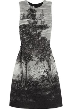 Black and tonal-gray printed jacquard Ruched, fully lined Zip fastening along back acetate, polyester Dry clean Jacquard Dress, Ruched Dress, Discount Designer Clothes, Playing Dress Up, Fashion Outfits, Womens Fashion, Marni, Style Guides, Autumn Winter Fashion