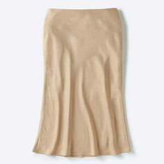 WOMEN U SATIN SKIRT