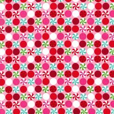 Peppermint Dot Pink Christmas Michael Miller by spiceberrycottage, $8.95