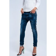 So hard to resist: Skinny jeans with...! Get it while it's hot, http://www.amameluxx.com/products/skinny-jeans-with-side-pearls-detail?utm_campaign=social_autopilot&utm_source=pin&utm_medium=pin