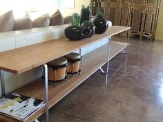 Fantastic sofa table. #DIY #Ikea hack by