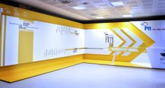exhibition space designing for ptt by nebal çolpan, via Behance